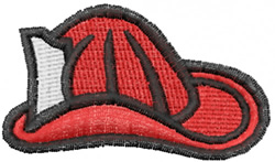 Fire Hat embroidery design