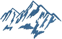 Mountain Name Drop embroidery design