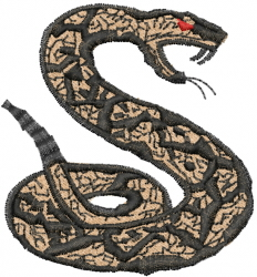 Rattlesnake embroidery design