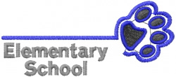 Elementary School Namedrop embroidery design