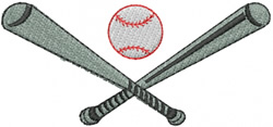 Softball bats embroidery design