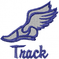 Winged Shoes Track embroidery design