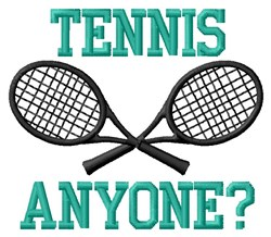 Wanna Play Tennis embroidery design