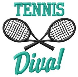 Diva Of Tennis embroidery design