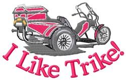 I Like Trike embroidery design