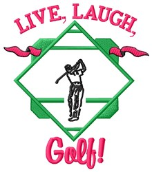 Live Laugh Play embroidery design