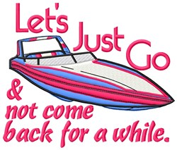 Go Boating embroidery design