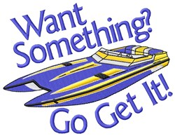 Go Get The Boat embroidery design