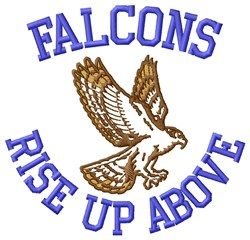 Falcons Rise embroidery design