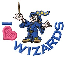 Love Wizards embroidery design