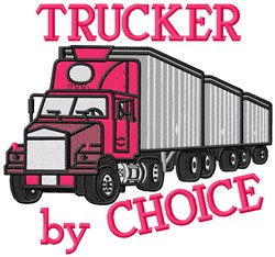 The Trucker embroidery design