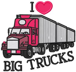 Big Truck embroidery design