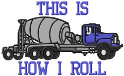 Rollin Truck embroidery design