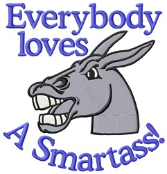 Smartass Donkey embroidery design