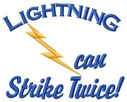 Lightning Strike embroidery design