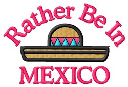 Mexican Hat embroidery design