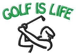 Golfers Break Time embroidery design