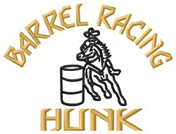 The Barrel Hunk embroidery design