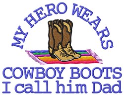 Dads Cowboy Boot embroidery design