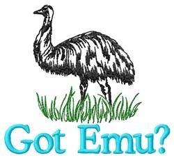 Got Emu embroidery design