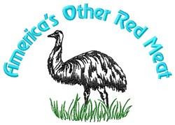 American Emu embroidery design