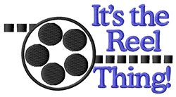 The Reel Thing Baby embroidery design