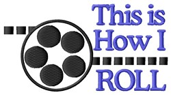 Roll Of The Reel embroidery design