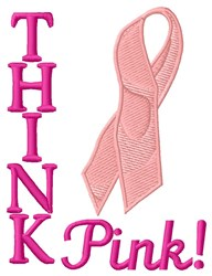 Think Pink embroidery design