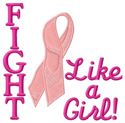 Fight Like Girl embroidery design