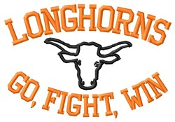 Longhorns Win embroidery design