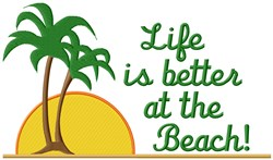Better Life Beach Life embroidery design