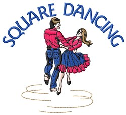 Square Dancing embroidery design
