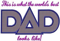 Look Dad Applique embroidery design
