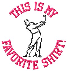 Golf Player Shirt embroidery design