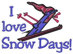 Snow Days embroidery design