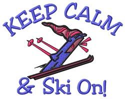 Ski On embroidery design