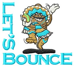Bounce Beans Music embroidery design