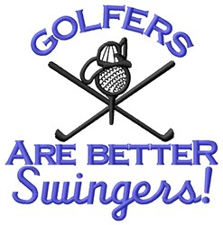 Golf Swinger embroidery design