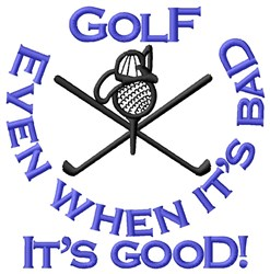 Golf Goodness embroidery design