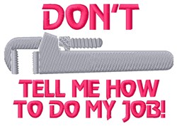 Pipe Wrench Job embroidery design
