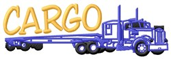 Truck Cargo embroidery design
