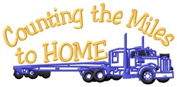 Each Mile Step Home embroidery design