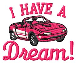 Dream Car embroidery design