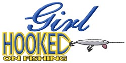 Fishing Obsessed Girl embroidery design