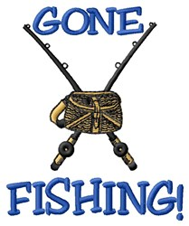 Gone Fishing embroidery design