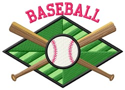 Baseball Field embroidery design