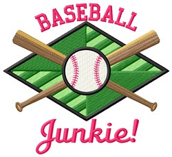 Baseball Junkie embroidery design
