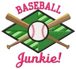 Baseball Junkie embroidery design