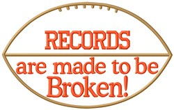 Break All Records embroidery design