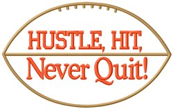 Never Quit Football embroidery design